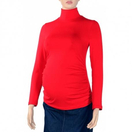 Tehotenská blúzka dl. rukáv ZOLA červená
