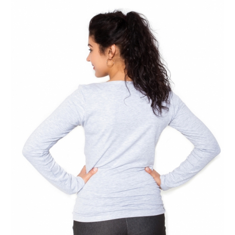 Tehotenské tričko dlhý rukáv In Love - sivá