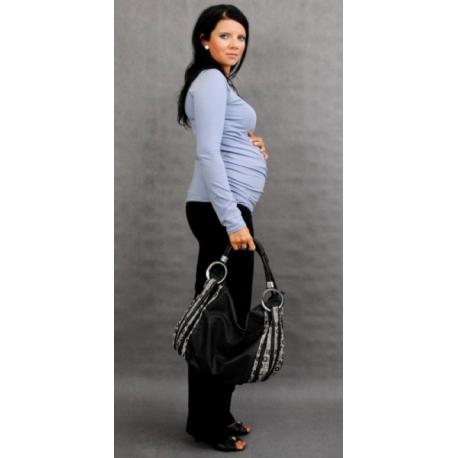 Tehotenské tričko ELLIS - šedá