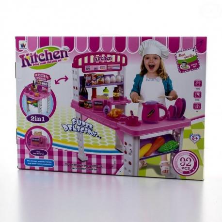 Detská kuchynka Super Delicious - růžová