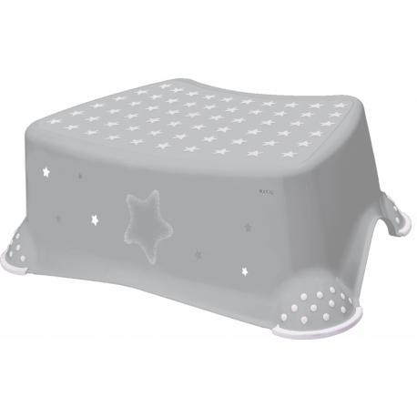 Stolička, schodík s protišmykom Baby Star - sivý