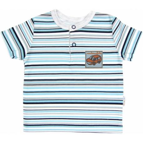 Polo tričko krátky rukáv Mamatti - Tuleň prúžok