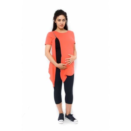 Tehotenská a dojčiaca tunika Aida - koralová