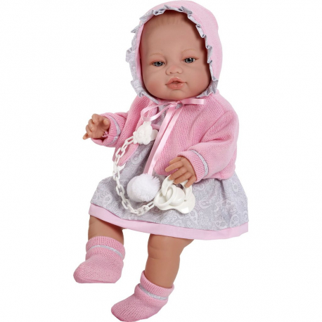 Španielska bábika Berbesa - bábätko Amanda 43 cm