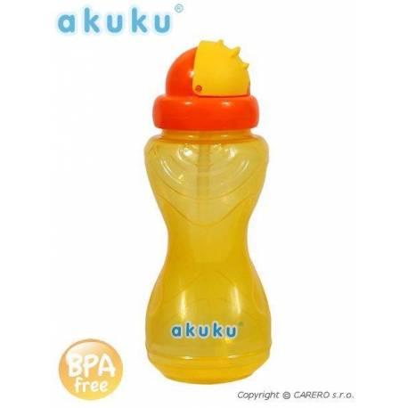 Sportovní láhev s brčkem Akuku žlutá