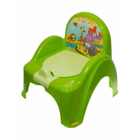Dětský nočník s poklopem zelený safari