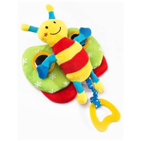 Edukační plyšová hračka Sensillo motýlek s pískátkem