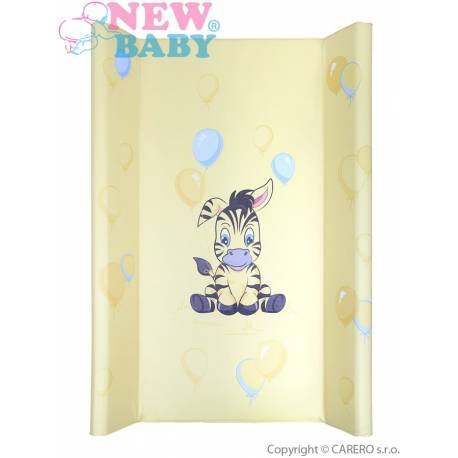 Přebalovací podložka New Baby Zebra žlutá 80x50