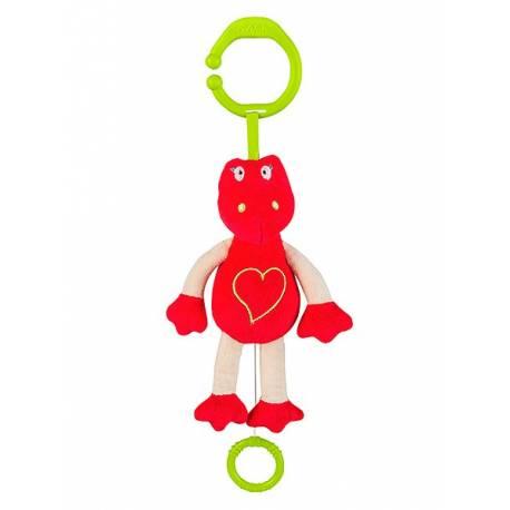 Plyšová hračka s hracím strojkem Baby Ono Dráček červený