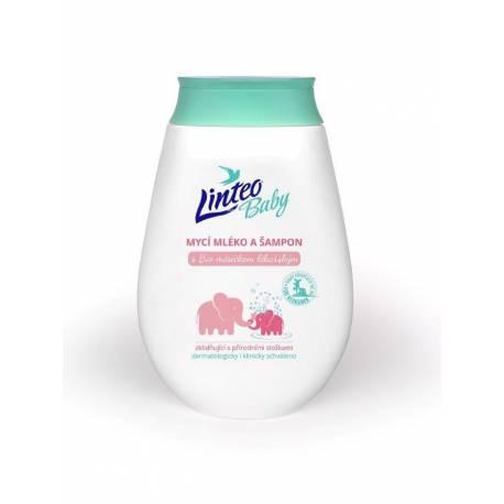 Dětské mycí mléko a šampón Linteo Baby s měsíčkem lékařským