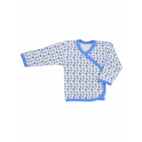 Kojenecká košilka Koala Magnetky modrá s tlapkami
