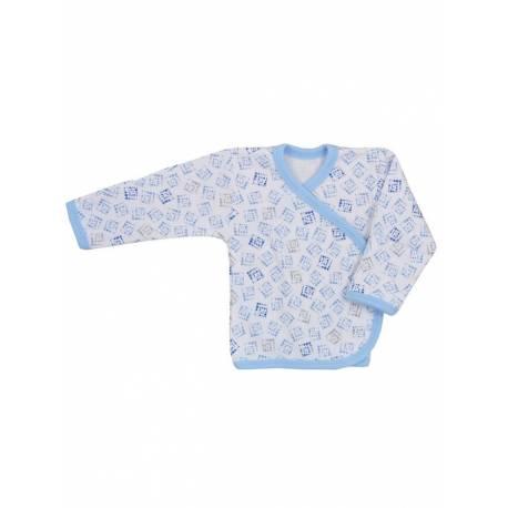 Kojenecká košilka Koala Magnetky modrá s kostičkami