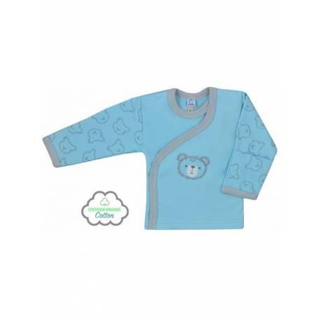 Kojenecká BIO košilka Koala Malí Medvídci modrá