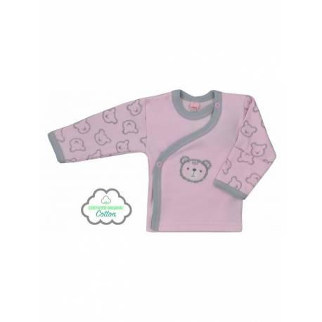 Kojenecká BIO košilka Koala Malí Medvídci růžová
