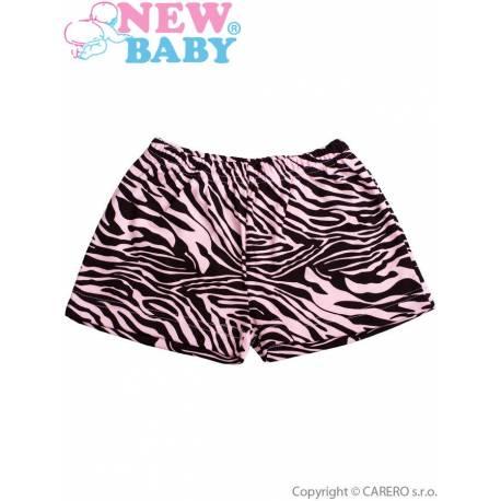 Dětské kraťasy New Baby Zebra růžové