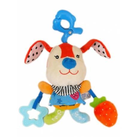 Plyšová hračka s hracím strojkem Baby Mix Králíček červený