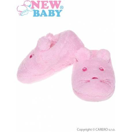 Kojenecké capáčky New Baby růžové