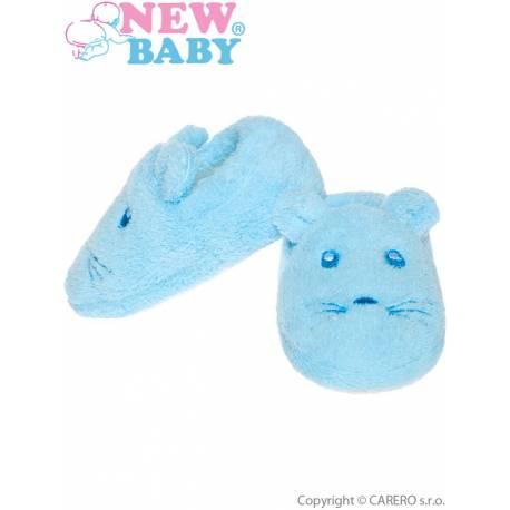 Kojenecké capáčky New Baby modré
