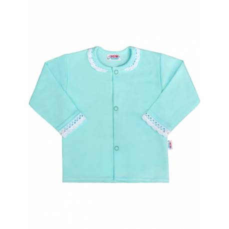 Kojenecký bavlněný kabátek New Baby Angel modrý