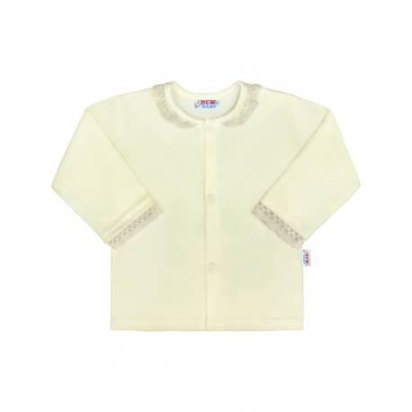 Kojenecký bavlněný kabátek New Baby Angel béžový
