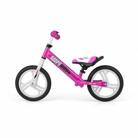 """Dětské odrážedlo kolo Milly Mally Speedway 12"""" pink"""