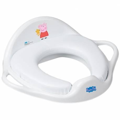 Dětské sedátko na WC měkké Prasátko Peppa white-pink