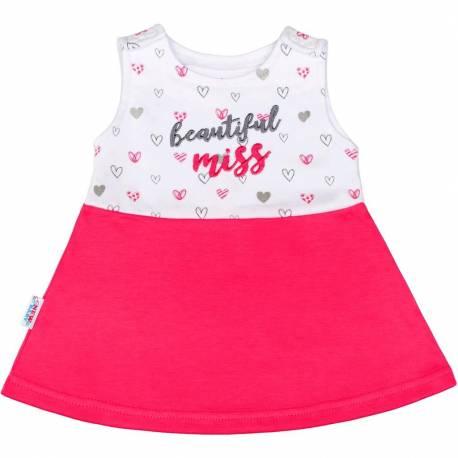 Kojenecké šaty bez rukávů New Baby růžové