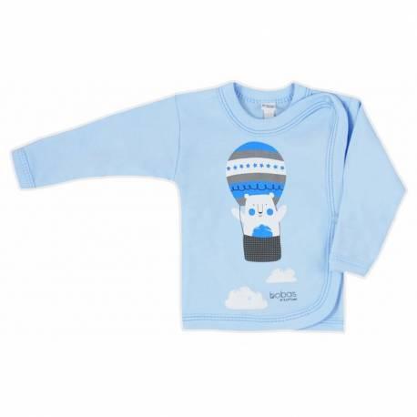 Kojenecká košilka Bobas Fashion Mini Baby modrá