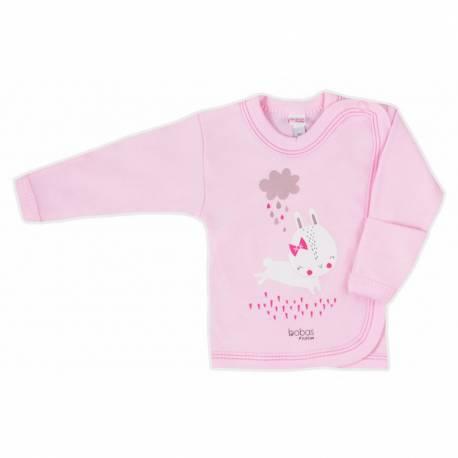 Kojenecká košilka Bobas Fashion Mini Baby růžová