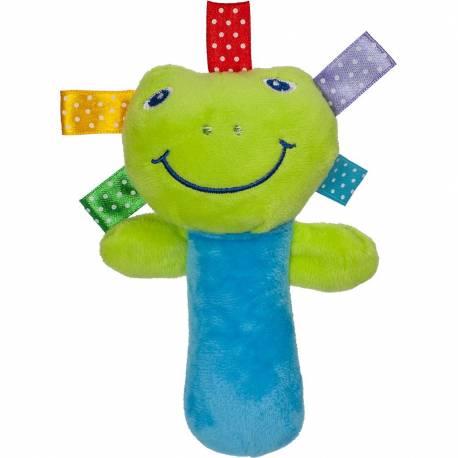 Plyšová hračka s pískátkem Akuku žabka
