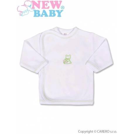Dojčenská košieľka s vyšívaným obrázkom New Baby zelená