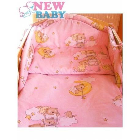 6-dielne posteľné obliečky 100/135 cm New Baby ružové