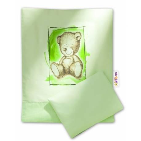 2-dielne obliečky do kočíka komplet Sweet Dreams by Teddy - zelene