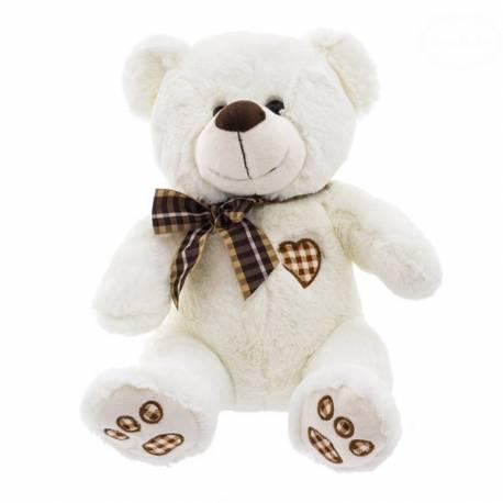 Plyšový medvedík 40cm - bielo/smotanový