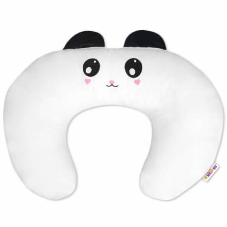 Dojčiace vankúš/podkova s uškami - Panda