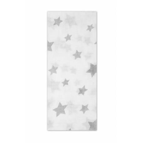 Tetrové plienka Basic 70x80cm - Hvězdičky bílé v šedé