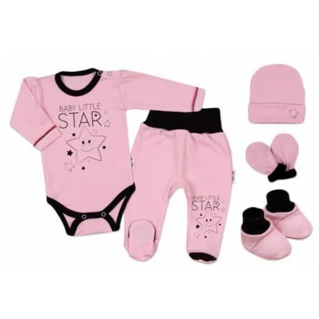 Súpravička do pôrodnice Baby Little Star - ružová