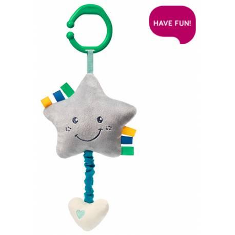 Plyšová hviezdička s hracím strojčekom Lullaby Star - sivá