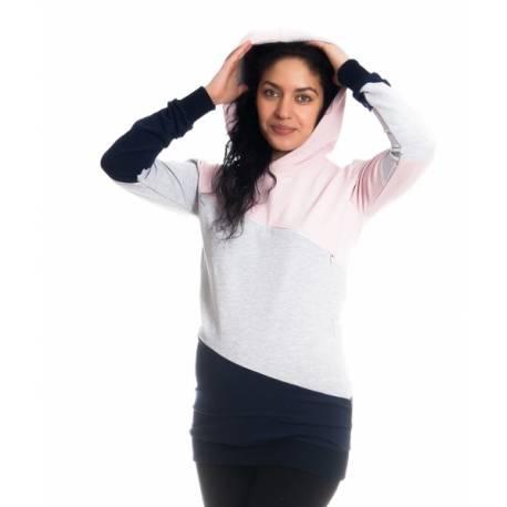 Tehotenské a dojčiace triko mikina Tiffany s kapucňou  e757d81420e
