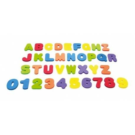 Penová písmená a číslice do vane 36ks v sáčku