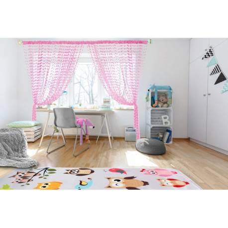 Dětská záclona nielen do izbičky Baby Ball, 250x240 cm, ružová - 1ks