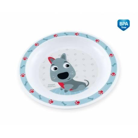 Plastový tanierik Psík - modrý