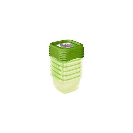 Súprava plastových škatuliek Hippo 0,25l - 6 ks