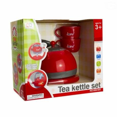 Detský čajový set - červený
