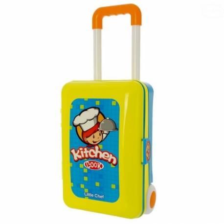 Detská kuchynka v pojazdnom kufríku