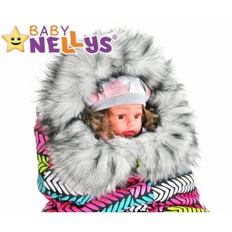 Fusak nielen do autosedačky Baby Nellys ® Eskymo s kožušinkou LUX