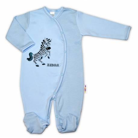 Bavlnený overal Zebra, veľ. 56 - modrá prúžky