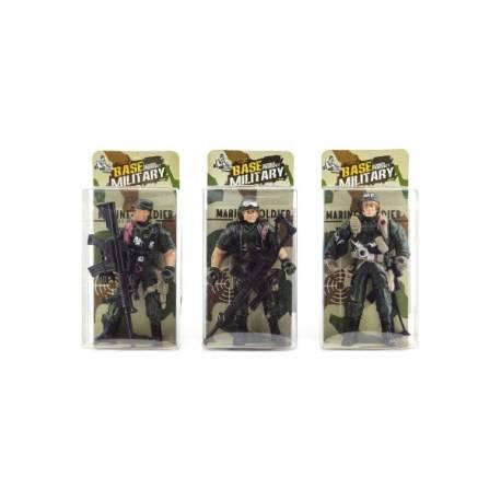 Vojak figúrka plast 10cm asst v krabičke 24ks v boxe