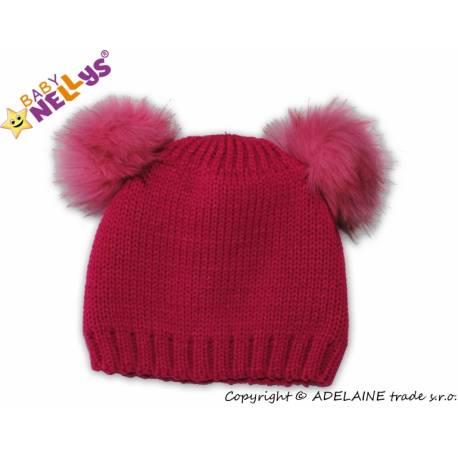 Zimné čiapky Mako chlupáček Baby Nellys ® - tm. ružový