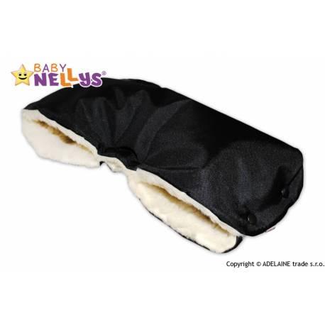 Rukávnik ku kočíka Baby Nellys ® VLNA - čierny